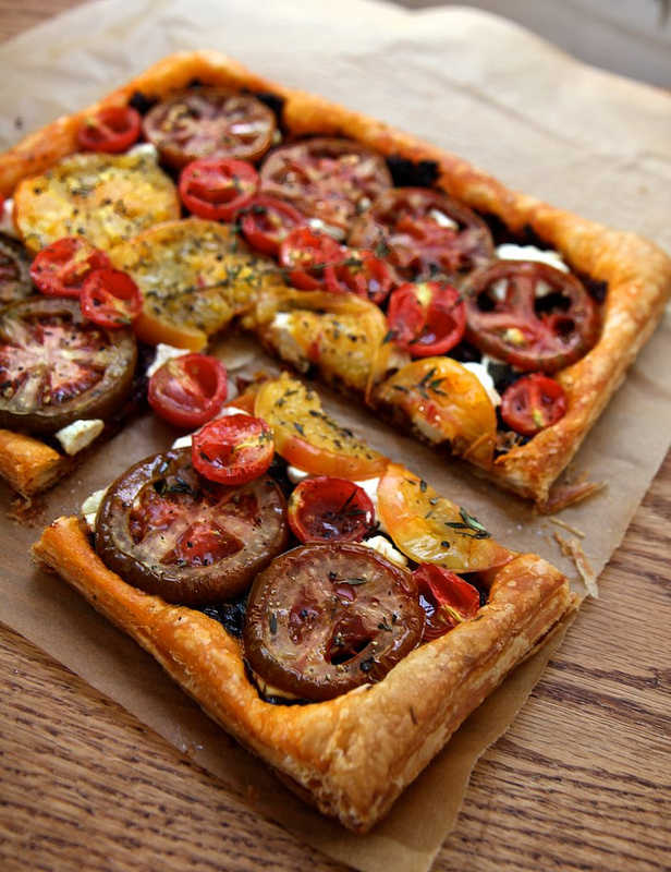 heirloom tomatoe tart